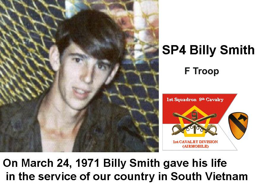 Billy Smith, F Troop, KIA 24